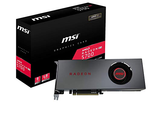 MSI Gaming Radeon RX 5700 256-bit HDMI/DP 8GB GDRR6 HDCP Support DirectX 12 Single Fan VR Ready OC Navi Architecture Graphics Card (Radeon RX 5700 8G)