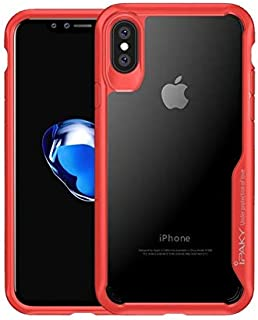IPAKY Drop-proof PC plus TPU Hybrid case Accessory for iphone Xs Max 6.5 inch - Red