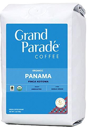 Grand Parade Coffee, 3 LB Unroasted Coffee Beans - Organic Panama Boquete - Award Winning Kotowa Estate Single Origin - High Altitude Specialty Arabica - Fair Trade - Fresh Raw Green Coffee
