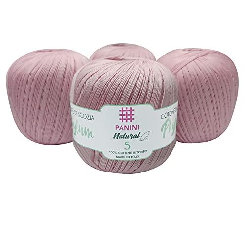 Panini Tessuti, Phylum Título 8 - Hilo de algodón para ganchillo de grosor número 8 - Hilo de...