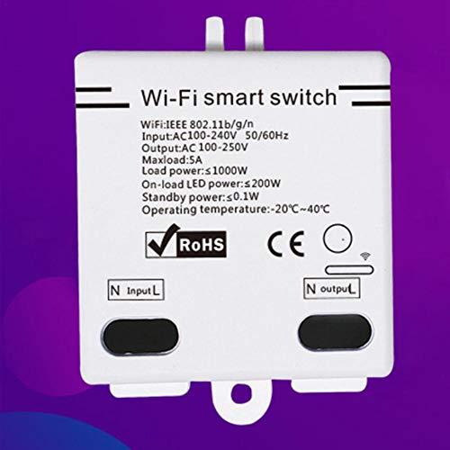 Mando a distancia inalámbrico con interruptor WiFi, compatible con Alexa/Smart Things Hub/Wink Hub/Zigbee HA Hub/Echo Plus/Echo Show 2/Echo Dot para DIY Smart Home
