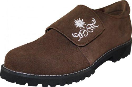Damen Haferlschuhe Trachtenschuhe für Trachten Lederhosen Dunkelbraun, Größe:39