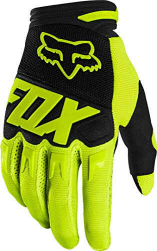 2020 Fox Racing Youth Dirtpaw Race Gloves-Flo Yellow-YL