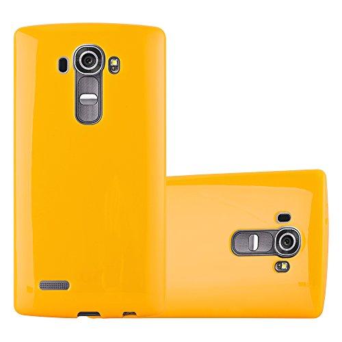 Cadorabo Custodia per LG G4 / G4 Plus in Jelly Giallo - Morbida Cover Protettiva Sottile di Silicone TPU con Bordo Protezione - Ultra Slim Case Antiurto Gel Back Bumper Guscio