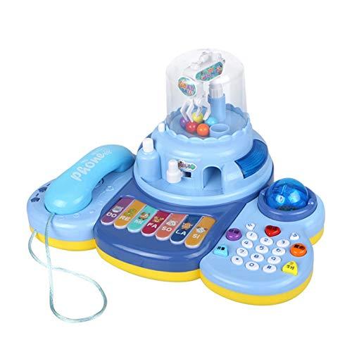 LYY Interesante Bebé y niños Teléfono Simulación Fija Bebé Botón Tono Diversión Sabor Educación Earra Llamada Llamada 1 año Puzzle Muchacho y niña (sin batería) Interacción Familiar