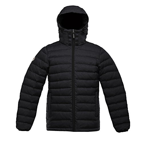 Leather Goose Down Jacket Men