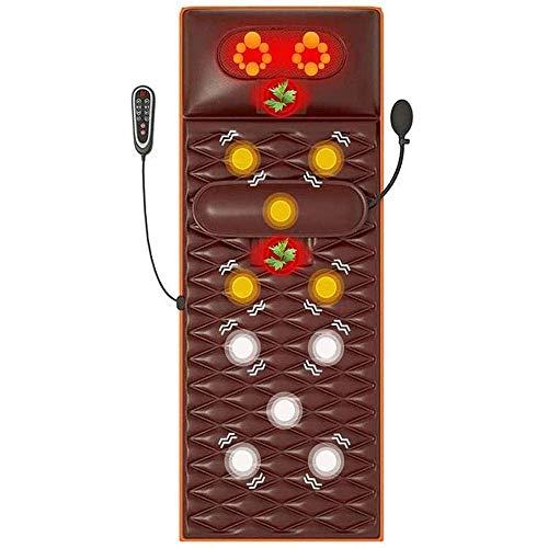 Chaise De Bureau De Bureau Tapis De Massage Chauffant avec 16 Têtes De Massage du Cou, 9 Modes Tapis De Massage Complet du Corps À 9 Niveaux pour Soulager Les Douleurs Lombaires dans Les Jambes, MARR