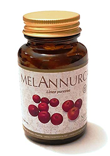 MELANNURCA - LA MELA DEL CUORE - 60 CAPSULE - contro la caduta dei capelli, con vero estratto di mela Annurca, 100% naturale, vegan, puro, un aiuto contro il colesterolo. Genuino, 100% alta qualità
