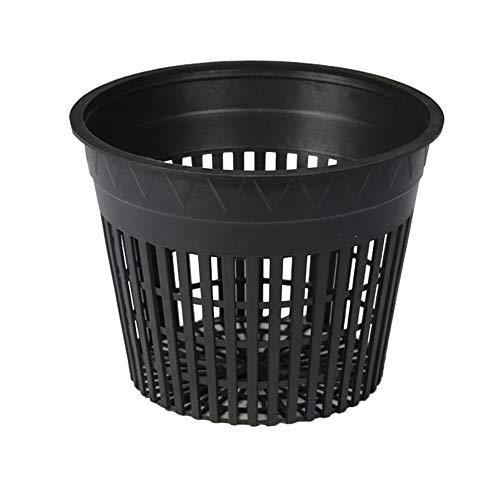 Hydro Crunch D94001114-24PC 6' Mesh Pot Set (24-Pack), 6-inch, Black