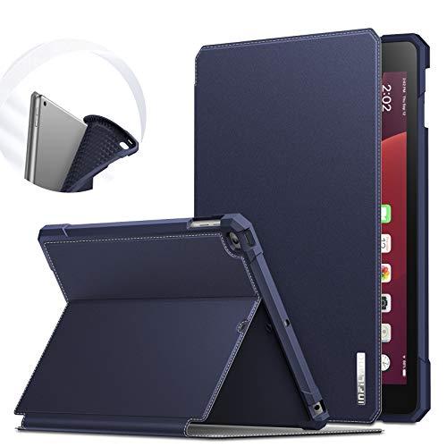 INFILAND Funda para iPad 9.7 2018/2017 & iPad Air 2/Air, TPU Case Anticaída con Auto Reposo/Activación para iPad 9.7 (6. Generation/ 5. Generation) & iPad Air 2/Air, Azul Oscuro