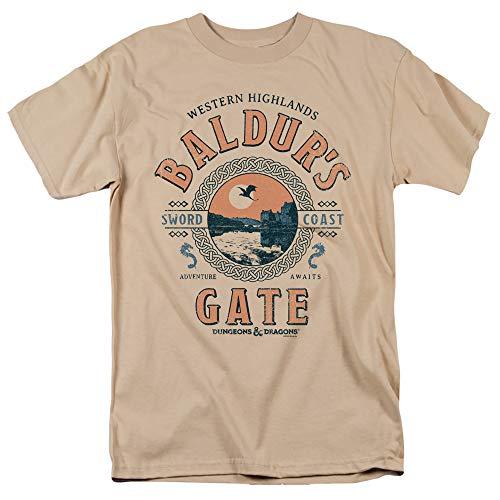 Camiseta adulto unissex Dungeons & Dragons Baldurs Gate Resort para homens e mulheres, Arena, XXG