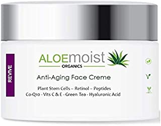 Advanced Anti Aging Face & Eye Cream – Collagen Peptides, Plant Stem Cells, Hyaluronic Acid, Retinol, Vitamin C, E, CoQ10 & More - For Rosacea, Acne, Oily Skin - Reduce Wrinkles, Fine Lines, Age Spots