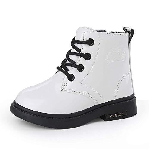 Niñita Botas Caliente Botas de Nieve de Las Niñas Zapatos de Invierno al Aire Libre Blanco con forro32