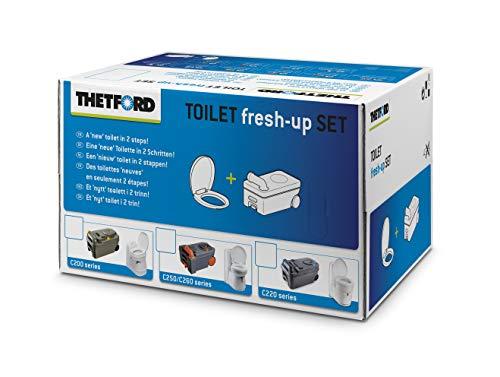 Thetford C200 Fresh Up Kit avec roulettes et poignée, kit de Nettoyage de Toilettes