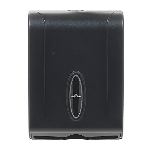 "C-Fold/Multi-Fold Paper Towel Dispenser by GP PRO (Georgia-Pacific), Translucent Smoke, 56650/01, 11.00"" W x 5.25"" D x 15.40"" H, Black"