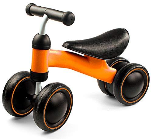 Best For Kids Kinder Laufrad Lauflernrad Balance Fahrrad ohne Pedale Dreirad Spielzeug für 1 Jahr, Erstes Baby Laufrad für Jungen Mädchen, Empfohlenes Alter: 10-24 Monate, Orange