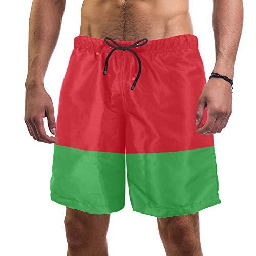 Eslifey Herren Strand Shorts Flagge von Weißrussland, Badehose, elastischer Badeanzug, Boardshorts für Herren, L Gr. XL, multi