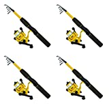 Eagle Claw PK56TS Pack-It Spin Combo Telescopic Rod (Pack of 4)