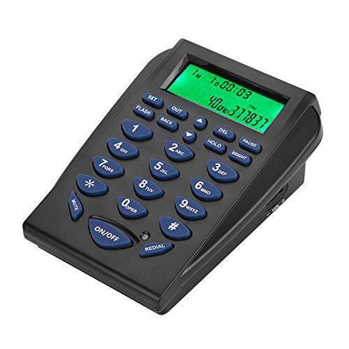 ASHATA Mini FSK/DTMF Business Teléfono Fijo,Centro de Llamadas Teléfono con Auriculares Manos Libres,Call Center Teléfono con Cable Retroiluminación para Oficina,Contestar Automática/Manual