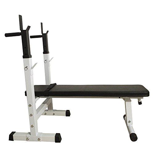 XLW BS-222 Fitness Weight Bench White & Black