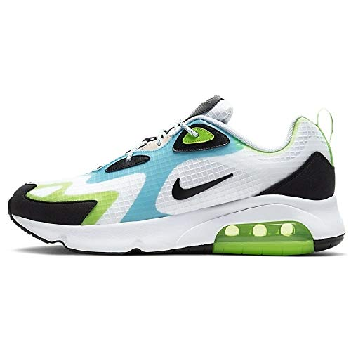 Nike Air Max 200 SE Herren Running Trainers CJ0575 Sneakers Schuhe (UK 7.5 US 8.5 EU 42, White Black Electric Green 101)