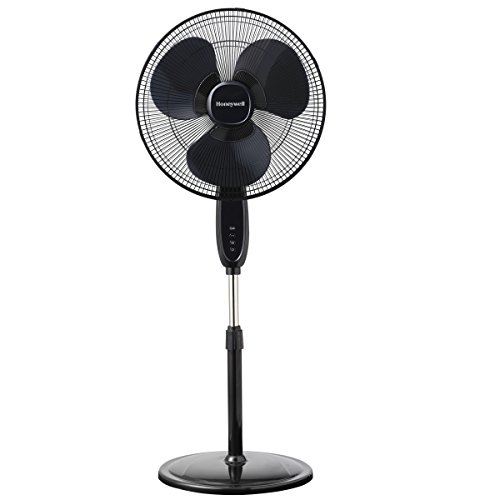 Price comparison product image Honeywell Double Blade 16 Pedestal Fan Black With Remote Control,  Oscillation,  Auto-Off & 3 Power Settings