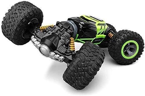 De doble cara coche del truco de 2,4 GHz de cuatro ruedas Escalada Drive Torsión de control remoto coche eléctrico remoto de juguete de control de la deformación a la deriva coche de los niños, regalo