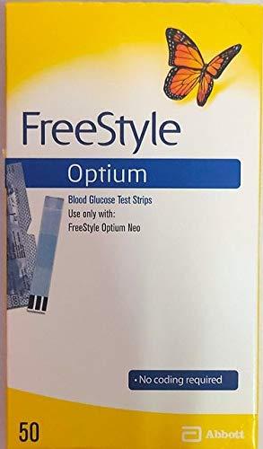 Abbott Freestyle optium 50 Glucometer Strips