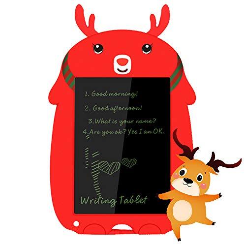 TAOPE Tableta de Escritura LCD con lápiz óptico, 8,5 Pulgadas Digital Ewriter Tableta de Dibujo gráfico electrónico borrable portátil Doodle Mini Tablero de Notas Bloc de Notas/Regalos de niñas -Rojo