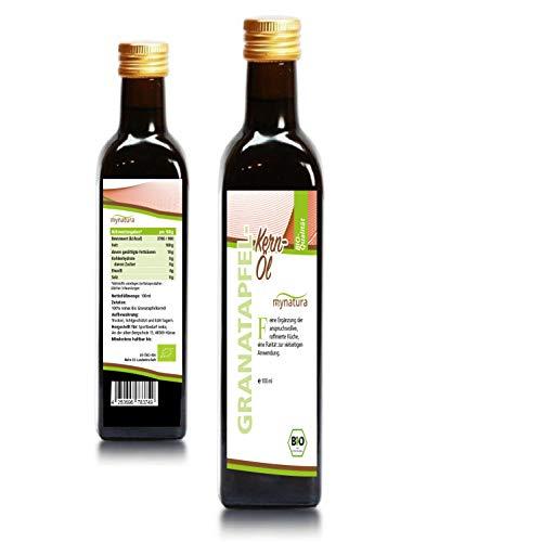 Mynatura Bio Granatapfelkern-Öl I Granatapfel I Hautpflege I Vitaminreich I Mineralien I Naturkosmetik I Flasche (1 x 100ml)
