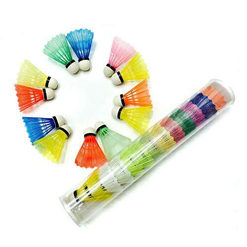 MZY1188 12pcs Palline Colorate da Badminton, volani Portatili per Allenamento Sportivo Forniture all'aperto, volano Portatile per Sport Racchetta