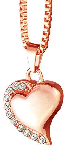 Rose gouden hart met kristallen Urn hanger ketting - Memorial as crematie sieraden