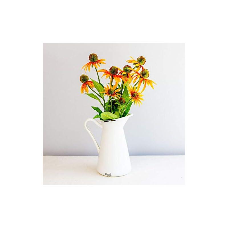 "silk flower arrangements linenlanding 30"" artificial flowers coneflowers echinacea flower spray, bouquet wedding party home indoor décor, pack of 2"
