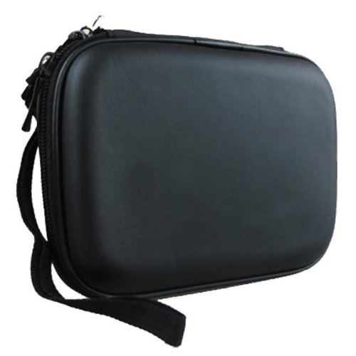 Co2Crea Hard EVA Shockproof Carrying Case Pouch Bag for Western Digital, Ultra Slim Essential Elements, Canvio, Samsung M3 Slimline, Passport - Black