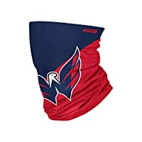 FOCO Washington Capitals NHL Big Logo Gaiter Scarf, Adult (SVNHCBBLPRFC)
