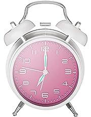 目覚まし時計 大音量 夜光 おしゃれ アラーム—Mreechan バックライト 静か 連続秒針 スヌーズ 電池式 置き時計 卓上時計