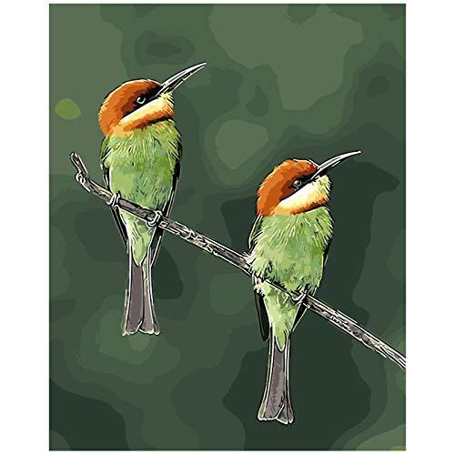Kkooa Mooie Vogels Zingen Leeuwerik Voor Woonkamer Decoratie Schilderen Olieverf Foto'S Op Nummer Tekening Op Nummer Diy Verf 50X65Cm Geen Frame