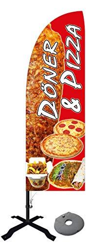 Beachflag Pizza und Döner BMD013-K