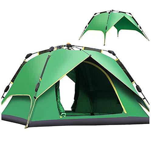 ASDFG Desert Tepee,Zelt,3-4 Personen Outdoor Einfach Campingzelt Wasserdicht Trekking Doppelwandig Grün 91x91inch
