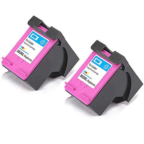 Cartucho de tinta 302XL, reemplazo de alto rendimiento para HP DeskJet 1111 1112 2131 2132 Envy 4510 4511 4520 OfficeJet 3830 4650 5220 5230 Impresora Negro y Tri-Co 2 Tri-Color