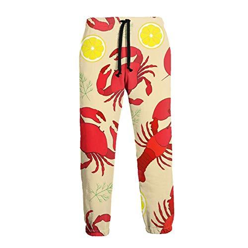 GAHAHA Pantalones de chándal para hombres cangrejos cangrejos limones jogger pantalones con bolsillos hip hop casual deportes pantalones de entrenamiento divertido