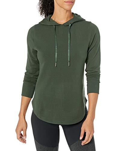 Amazon Brand - Core 10 Women's Cloud Soft Yoga Fleece Hoodie Sweatshirt, Olive, Medium