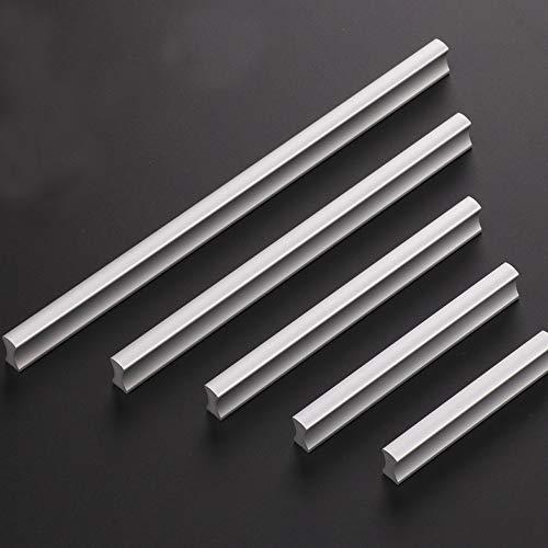 Angela-homestyle™ Möbelgriffe Aluminium Relinggriff Handgriff Griff für Küche Schublade, Tür, Schränke Dekoration (128mm, Silber)