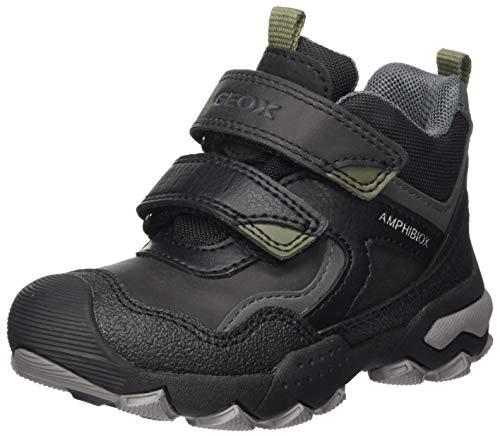 Geox Jungen J Buller Boy B ABX B Rain Shoe, (Black/Military), 24 EU