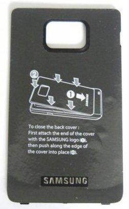 Akkudeckel Samsung GT-i9100 i9100 original Black schwarz