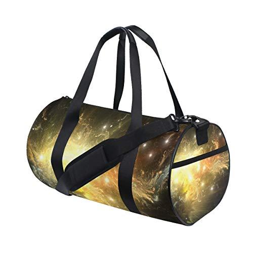 ZOMOY Sporttasche,Bunter Nebel geschaffen durch Supernova Explosion,Neue Druckzylinder Sporttasche Fitness Taschen Reisetasche Gepäck Leinwand Handtasche