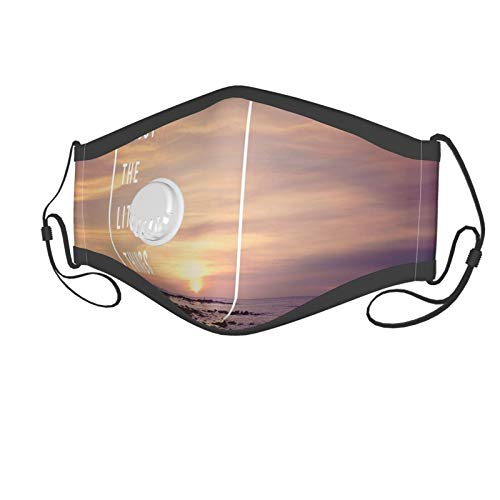 Fashion 3D Print Face Coverings Reuseable Washable,Sunset On Beach With Tropical Landscape Hawaiian Scenic Beauty Idyllic Quote Suitable for children aged 2-6,Breathable Dust Half Face Bandanas