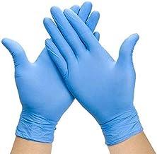 Medical Nitrile Gloves, Comfortable Disposable Gloves,100 Pcs Powder Free, Latex Free Disposable Exam Gloves (L, 2 -BLUE)
