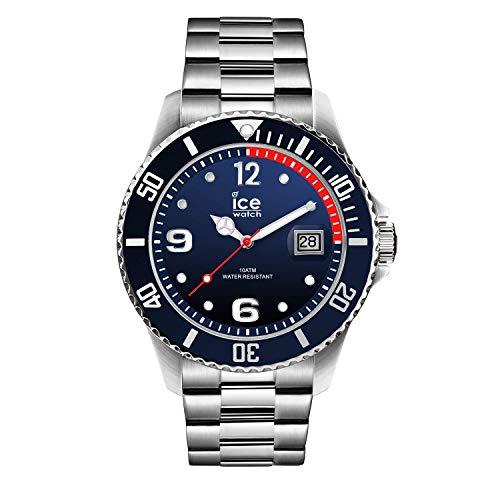 Ice-Watch - ICE steel Marine silver - Montre bleue pour homme avec bracelet en metal - 015775 (Grand)