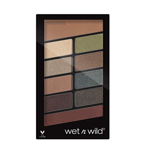 Wet 'n' Wild Lidschatten Palette Make-up, 10 hochpigmentierte Farben, Comfort Zone, 8.5 g